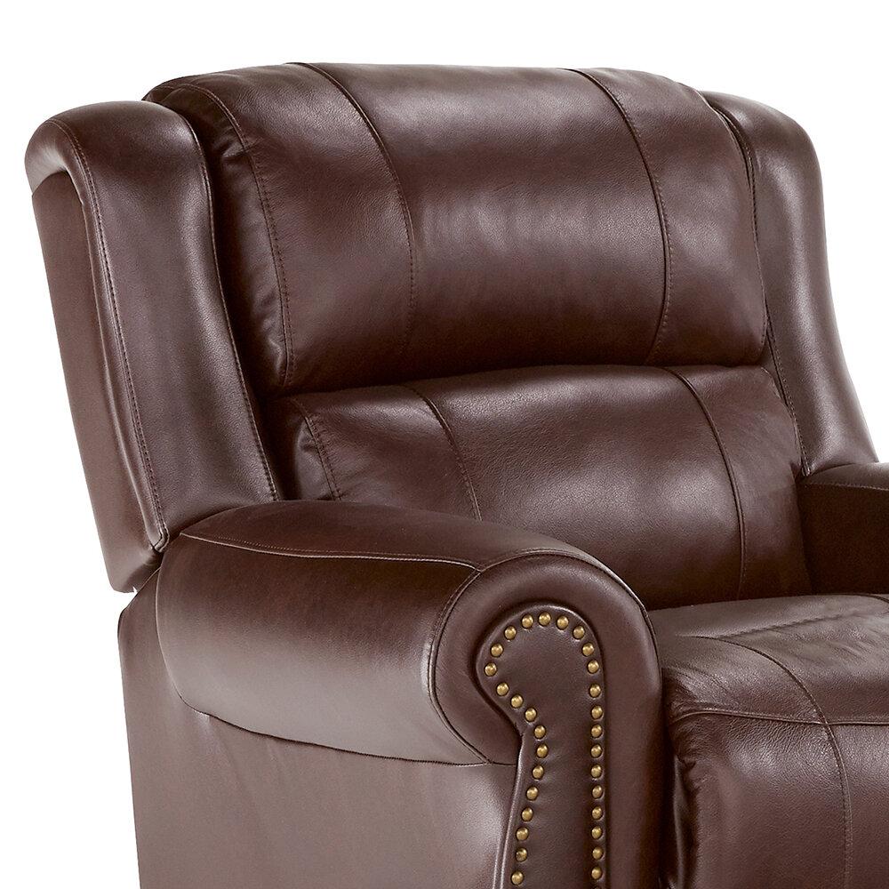 Winston Porter Hudepohl Genuine Leather Recliner Reviews Wayfair