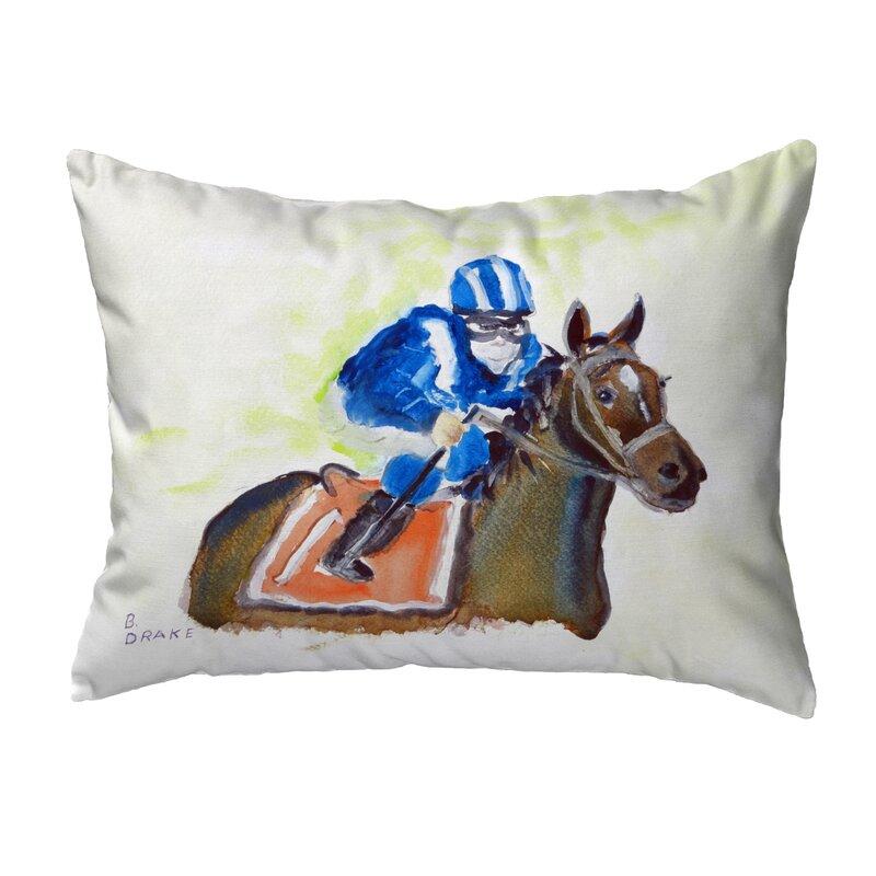 Betsy Drake Interiors Horse Jockey Indoor Outdoor Lumbar Pillow Wayfair