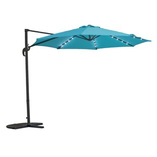 Kulikowski 9.5' Cantilever Umbrella with Lights
