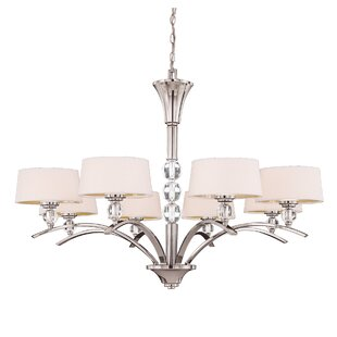 Willa Arlo Interiors Lewis 8-Light Shaded Chandelier