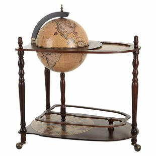 Globe drinks cabinet wayfair retro world map bar and serving cart gumiabroncs Images