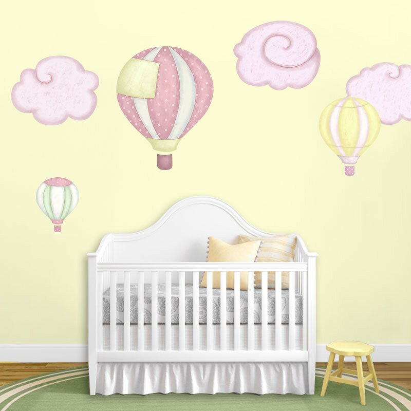 Hot Air Balloons And Cloud Wall Stickers