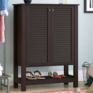 Online Reviews 15-Pair MDF Shoe Storage Cabinet ByDarby Home Co
