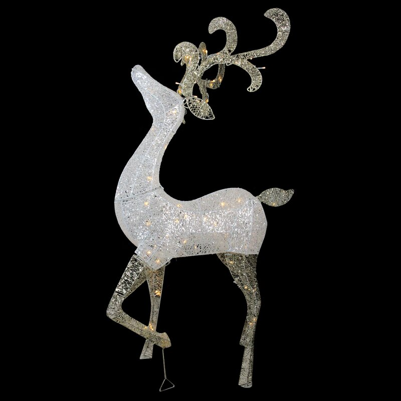 Christmas Card Holder Gold Glitter Reindeer