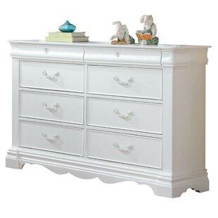 Aiden Wood 8 Drawer Double Dresser