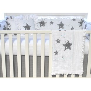 Reviews Stars Love You To The Moon Crib Blanket By Blueberrie Kids