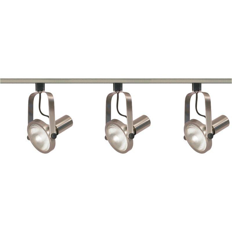 Nuvo lighting gimbal 3 light ring track kit reviews wayfair gimbal 3 light ring track kit aloadofball Image collections