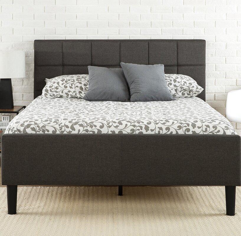 amici upholstered platform bed