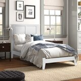 Brazoria Extra-long Twin Solid Wood Panel Bed by Three Posts