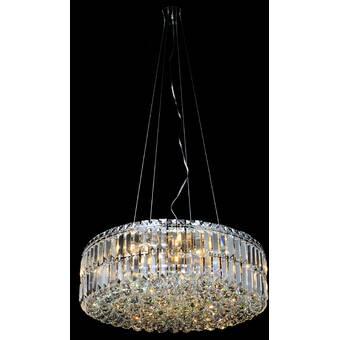 Orren Ellis Harning 4 Light Unique Statement Globe Chandelier With Crystal Accents Wayfair