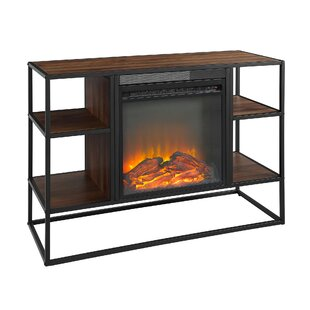 Ibrahim TV Stand for TVs up to 40 with Electric Fireplace by George Oliver