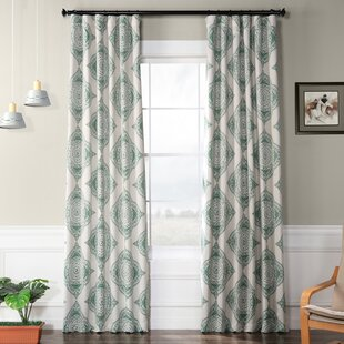 Wyndmoor Geometric Synthetic Blackout Rod Pocket Single Curtain Panel by Trent Austin Design