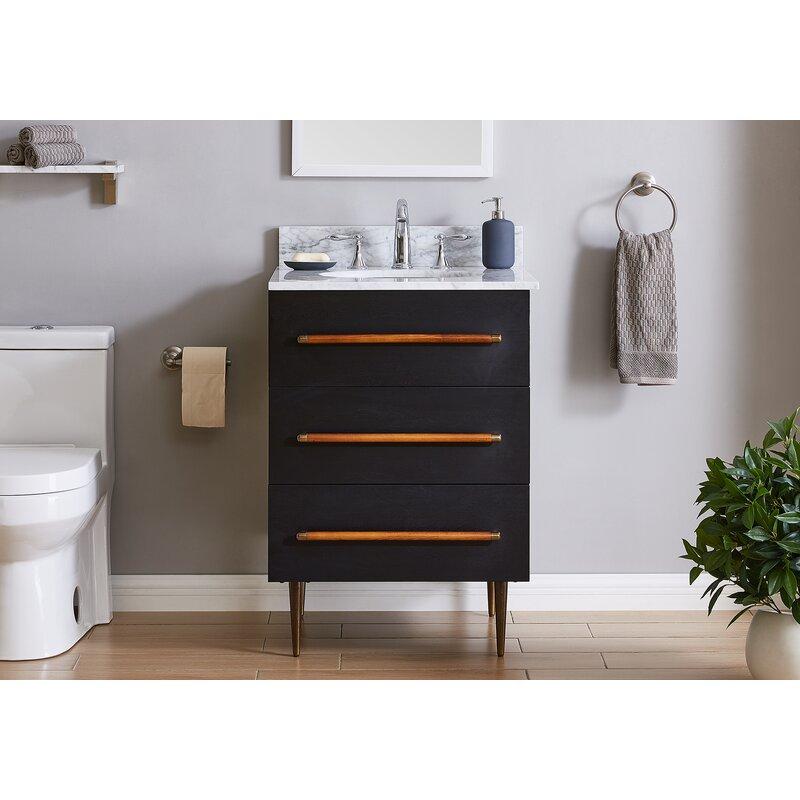 Corrigan Studio Steffen 24 Single Bathroom Vanity Set Reviews Wayfair