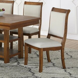 Gracie Oaks Fabien Wooden Upholstered Dining Chair (Set of 2)