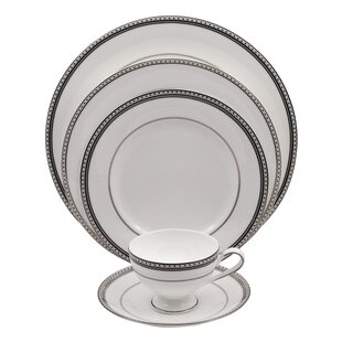 Classic Chablis 5 Piece Bone China Place Setting, Service for 1 (Set of 4)