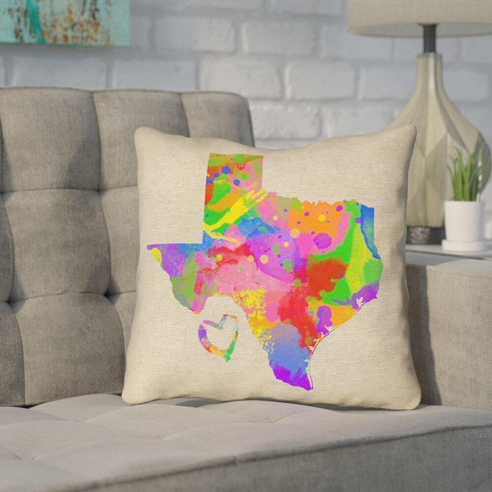 Ivy Bronx Sherilyn Texas Love Outdoor Throw Pillow Wayfair