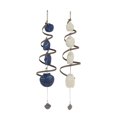 Coastal Scallop Shells and Spirals Wind Chime