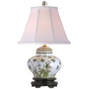 Oriental Furniture Porcelain Palm Tree Jar 15