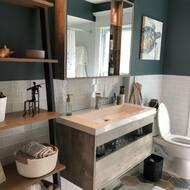 17 Stories Heartwell 39 Wall Mounted Single Bathroom Vanity Set With Mirror Wayfair
