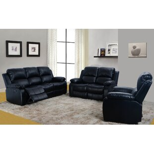 Jeff Reclining Motion Recliner 3 Piece Living Room Set Red Barrel Studio