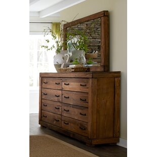 Nyla 8 Drawer Double Dresser with Mirror
