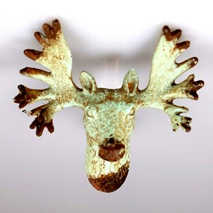 Handpainted Stag Head Novelty Knob (Set of 4)