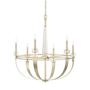 Everly Quinn Willington 6-Light Candle-Style Chandelier