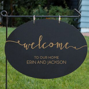 Ohanlon Blackboard 1-Line Garden Sign By Gracie Oaks