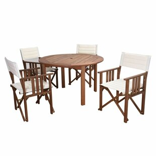 Foss Patio 5 Piece Dining Set By Beachcrest Home