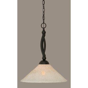 Blankenship 1-Light Cone Pendant by Fleur De Lis Living