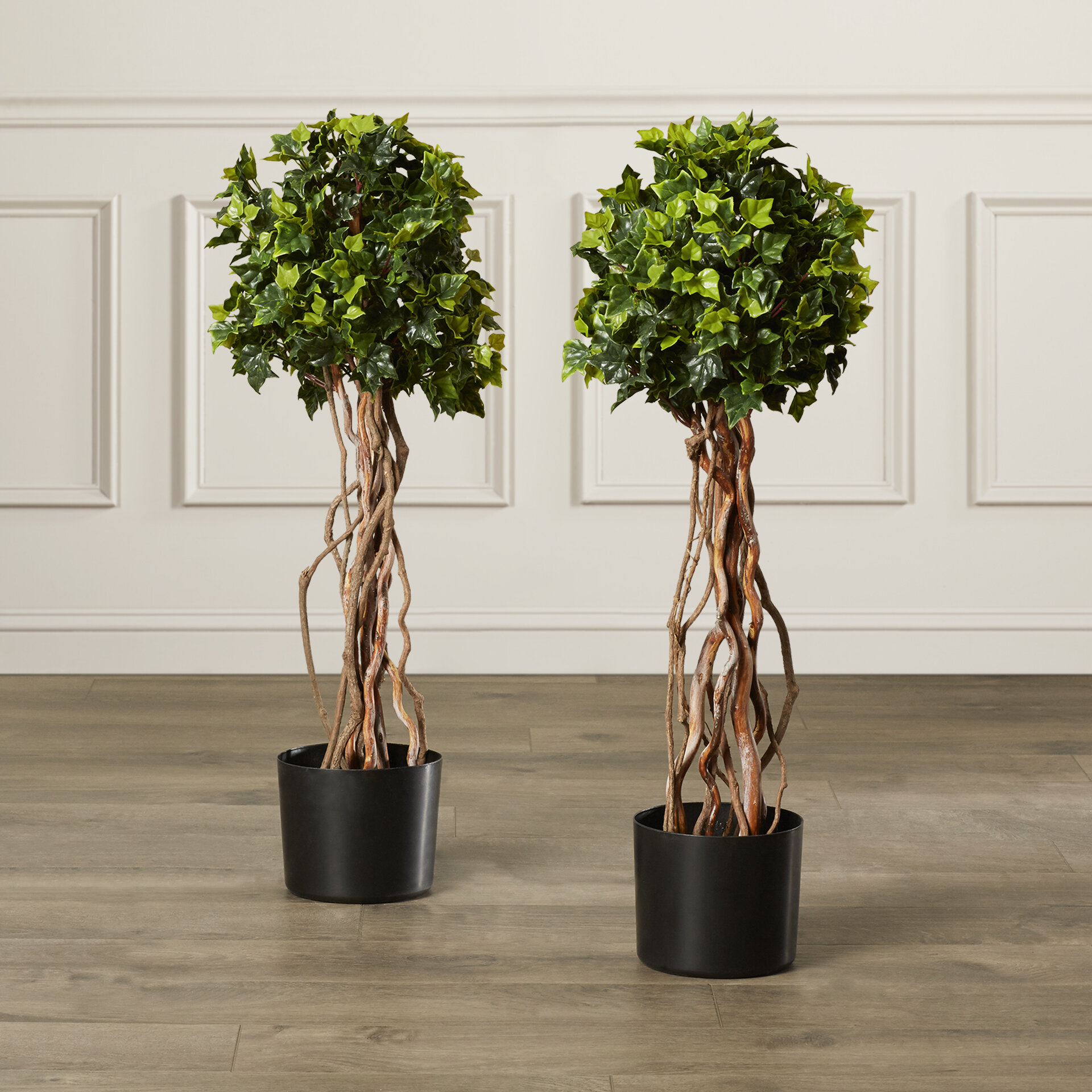 Darby Home Co Artificial English Ivy Topiary Tree In Pot Liner Liner Reviews Wayfair