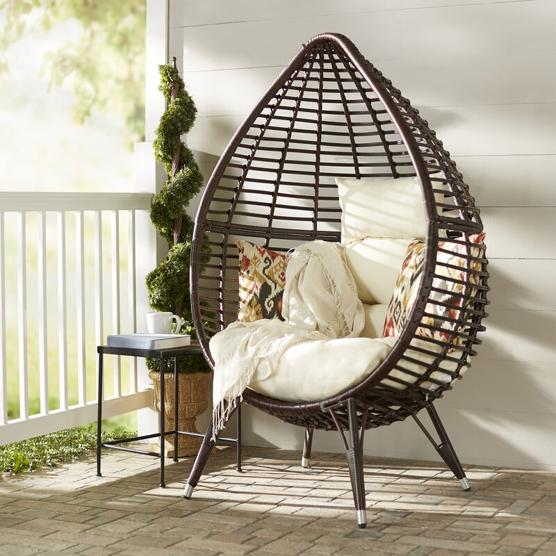 Langley Street Teardrop Patio Chair With Cushions