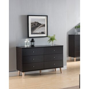 Wrought Studio Groth 6 Drawer Double Dresser