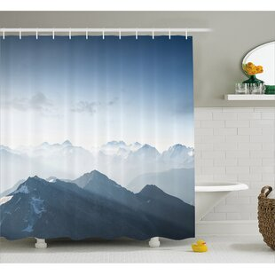 Fog Morning in Rock Mountain Decor Single Shower Curtain
