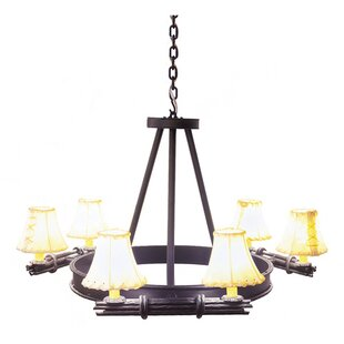 Steel Partners Bundle of Sticks 6-Light Shaded Chandelier