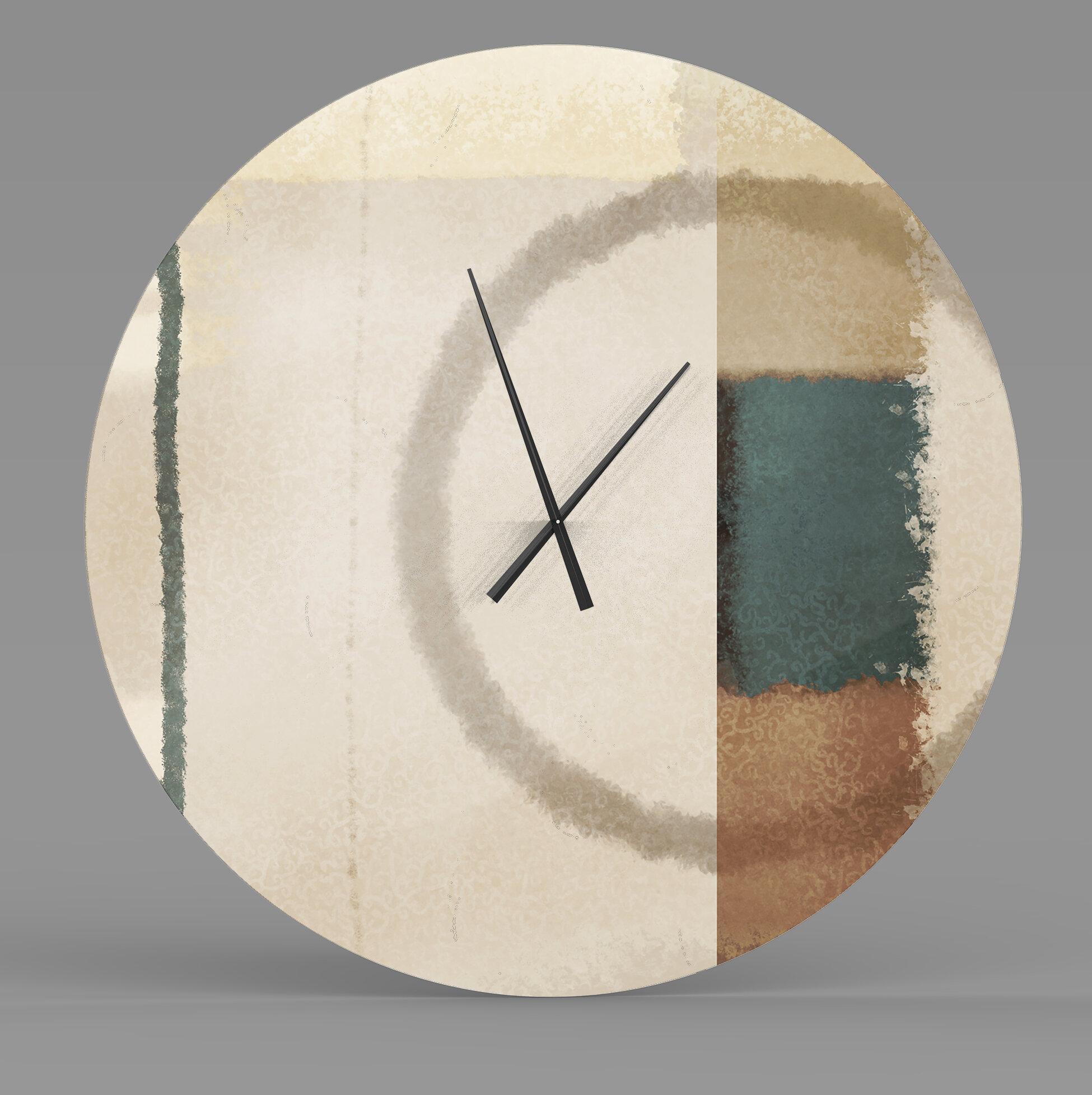 Latitude Run Methodical Firm Abstract Metal Wall Clock Wayfair Ca