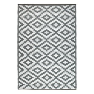 Nirvana Gray/White Indoor/Outdoor Area Rug