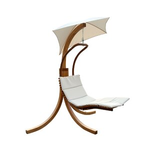 Leisure Season Polyester Hanging Chaise Lounger with Stand