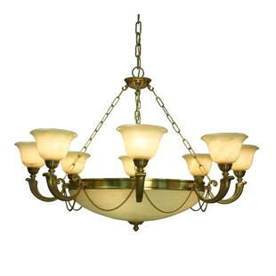 Classic Lighting Monica 12-Light Shaded Chandelier