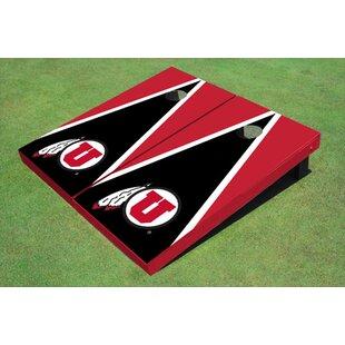 All American Tailgate NCAA 10 Piece Matching Triangle Cornhole Board Set