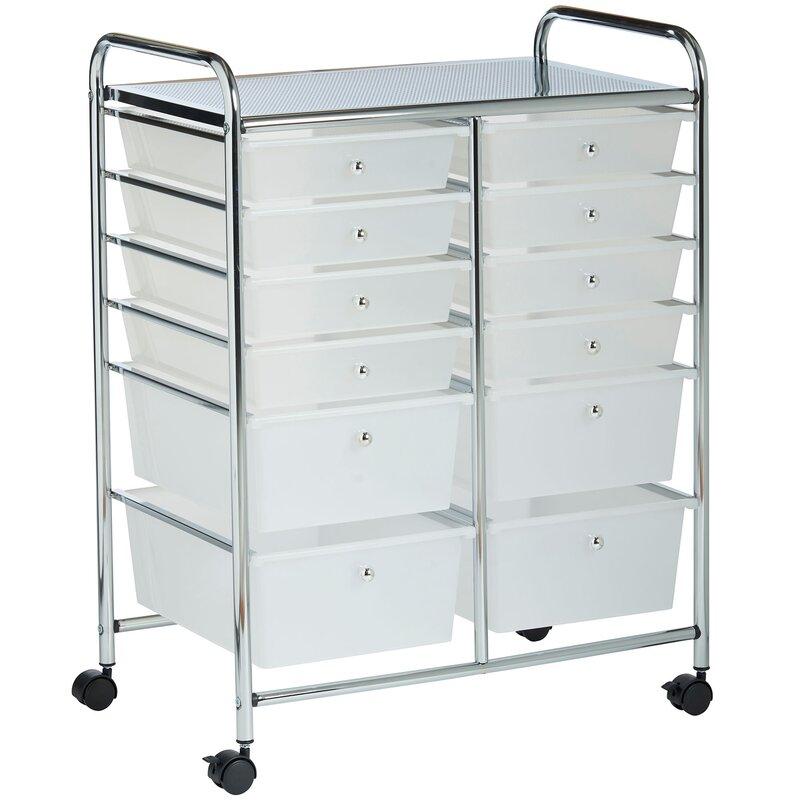 12 Drawer Rolling Trolley Storage Organizer
