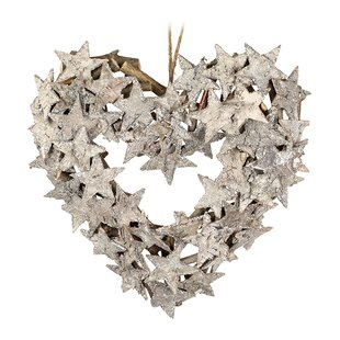 Heart-Shaped Star 24cm Wreath Image