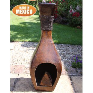 Clay Wood Burning Chimenea By Gardeco