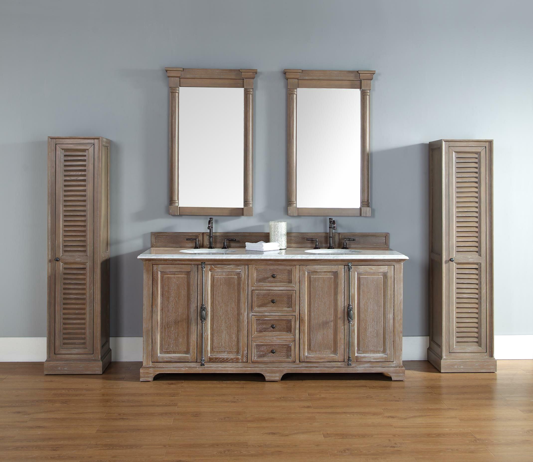 Double Driftwood Bathroom Vanity Set