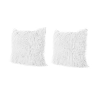 Beaufort Faux Fur Throw Pillow (Set of 2)