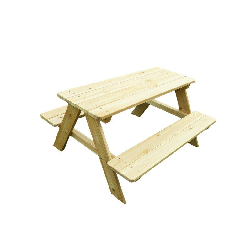 Kidu0027s Wood Picnic Table