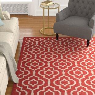 Larson Red/Bone Indoor/Outdoor Area Rug