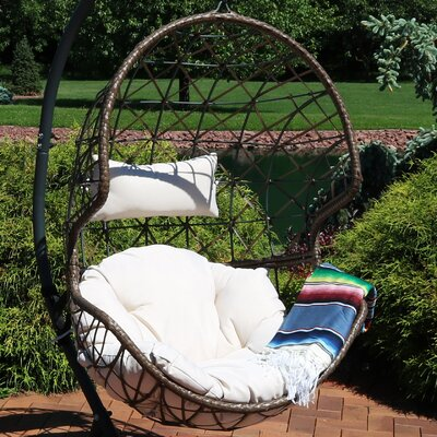 Mahaffey Hanging Egg Swing Chair by Bungalow Rose Fresh