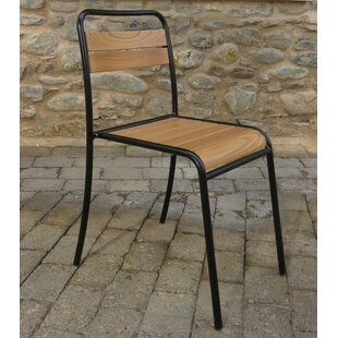 French Cafe Bistro Stacking Patio Dining Chair (Set of 2)