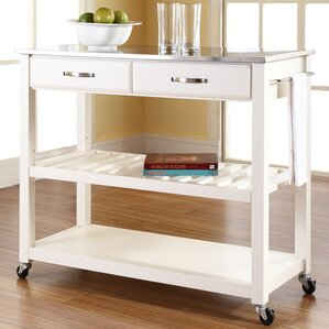 kitchen island furniture. Gothard Kitchen Island with Stainless Steel Top Islands  Carts You ll Love Wayfair